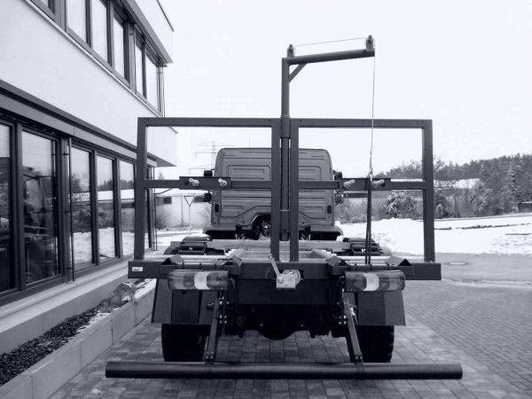 Reserveradhalter MB Atego 4x4